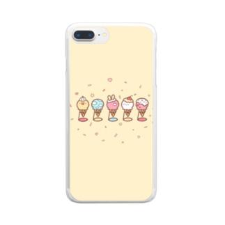 アイスクリームSHOP♡ Clear smartphone cases