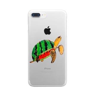 スイカメ Clear smartphone cases