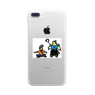 タイムトラベル お侍とヤンキー Clear smartphone cases