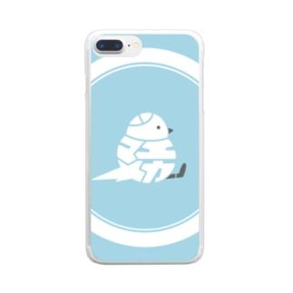 22 シマエナガ Clear Smartphone Case