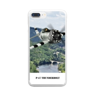 P-47 サンダーボルト Clear smartphone cases