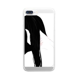 うなじの傷 Clear smartphone cases