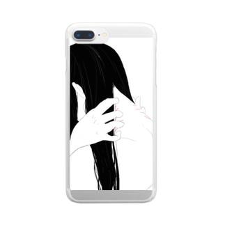 うなじの傷2 Clear smartphone cases