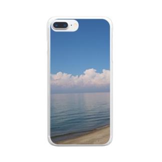 沖縄気分になれる海! Clear smartphone cases
