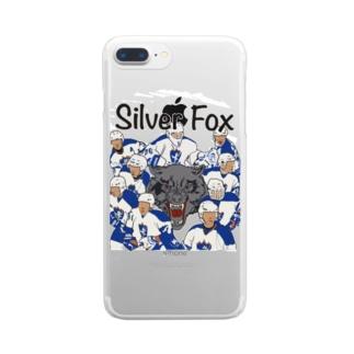 silver fox ALLSTAR color ver. Clear smartphone cases