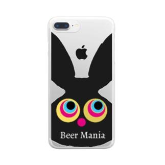 ビールマニア ラビット Clear smartphone cases