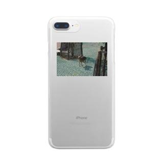 ふんばりワラビー Clear smartphone cases