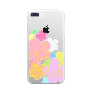 ふらわーず Clear smartphone cases