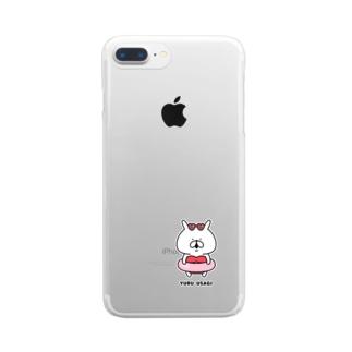 ゆるうさぎ 赤色ビキニ Clear smartphone cases