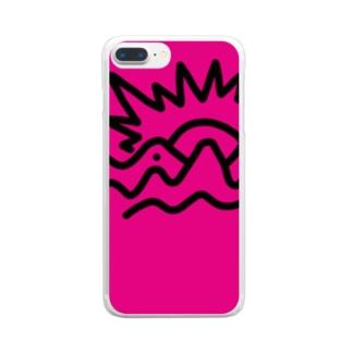 金の山(柄違い) Clear smartphone cases