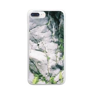 奥多摩のダムの近くにあった岩 Clear smartphone cases