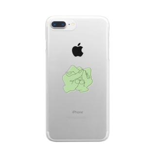 雨蛙ジョニー Clear smartphone cases