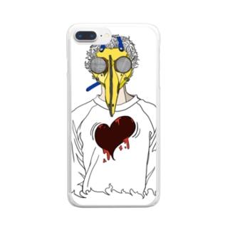 トクメイ社会 Clear smartphone cases