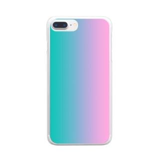 グラデ Clear smartphone cases