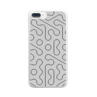 模様02 Clear smartphone cases