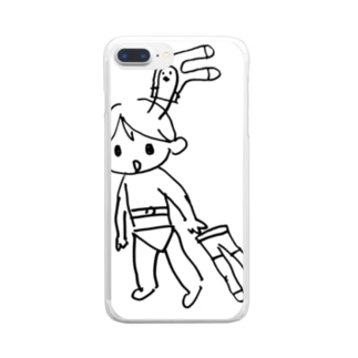 かわいいパンストおじさん Clear smartphone cases