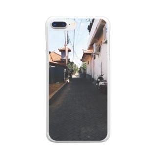 ✈️Trip✈️のバリの散歩道 Clear smartphone cases