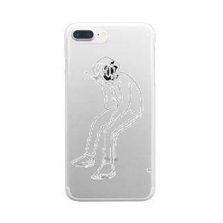 休憩 Clear smartphone cases