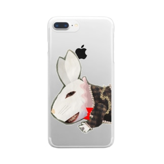不思議うさぎ Clear smartphone cases