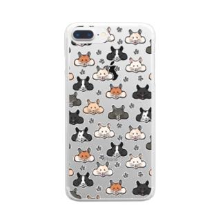 顔面ハムちゃん Clear smartphone cases