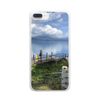 風景スマホケース Clear smartphone cases