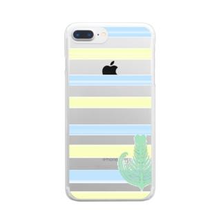 ジェラートラテアート /パイナップル×ブルーハワイ Clear smartphone cases