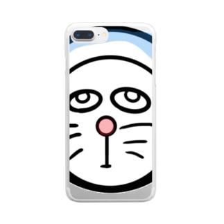 ホラえもん君 Clear smartphone cases