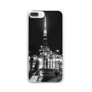 東京タワー×カラーコーン  mono Clear smartphone cases