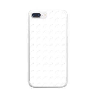 釜揚げしらす柄 Clear smartphone cases