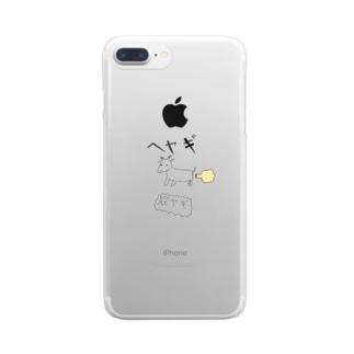 屁ヤギ Clear smartphone cases