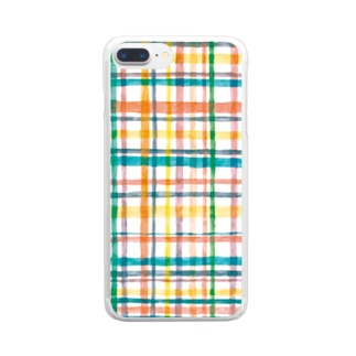 模様 Clear Smartphone Case