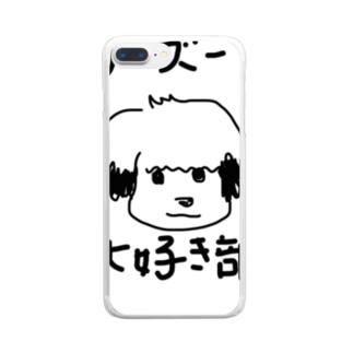 シーズー大好き部 Clear smartphone cases