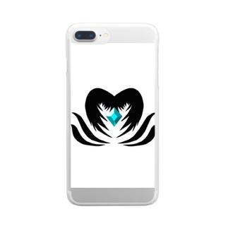 クリスタルを守る堕天使 Clear smartphone cases