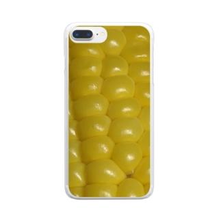 ワクワクコーン Clear smartphone cases