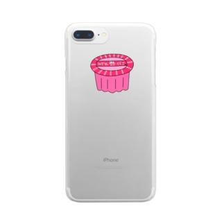 甘いみぞれ練乳かけイチゴ Clear smartphone cases