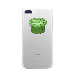 真緑のみぞれ宇治金時 Clear smartphone cases
