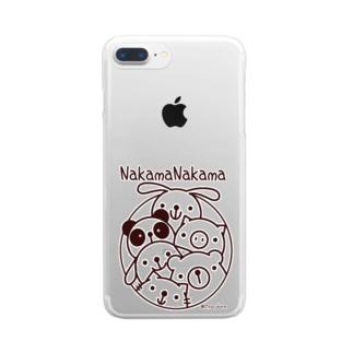 仲間ナカマ Clear smartphone cases