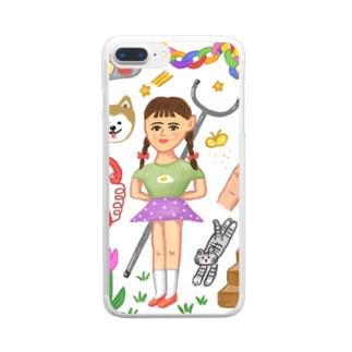 さすまた Clear smartphone cases