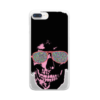 MackToons A.K.A カキ天のFunky Skull!!!! Clear smartphone cases