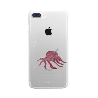 たこやろう Clear smartphone cases