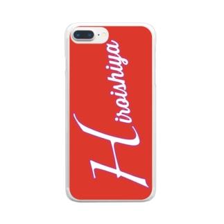 広島カープ風 広い視野 Clear smartphone cases
