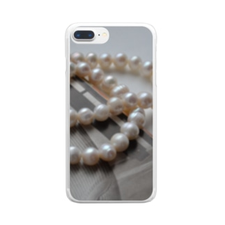 pearlⅩⅢ Clear smartphone cases