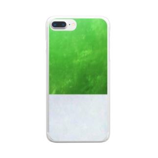 杜の都と思いきや霧の都仙台(文字なし) Clear smartphone cases