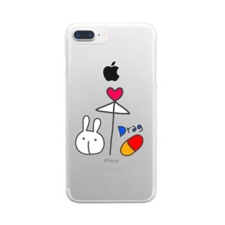 相合傘 Clear smartphone cases