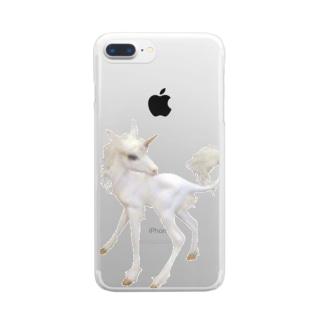 生まれたてのユニコーン Clear smartphone cases