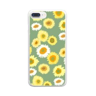 夏の終わり Clear smartphone cases