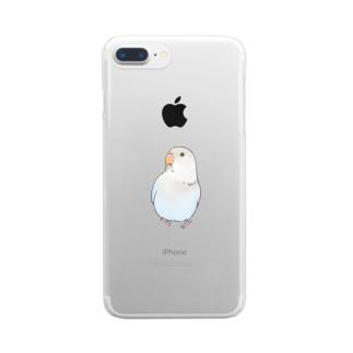 おすましコザクラインコ らむねちゃん【まめるりはことり】 Clear smartphone cases