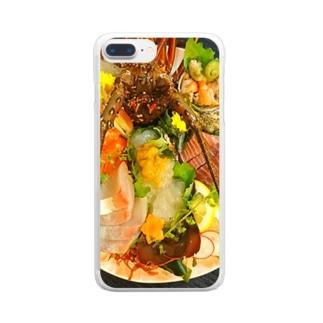 豪華お刺身盛り合わせ Clear smartphone cases