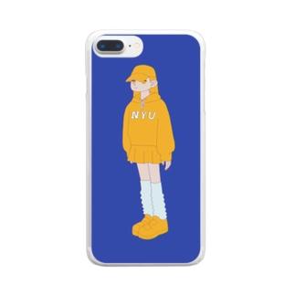 ひよっこ Clear smartphone cases