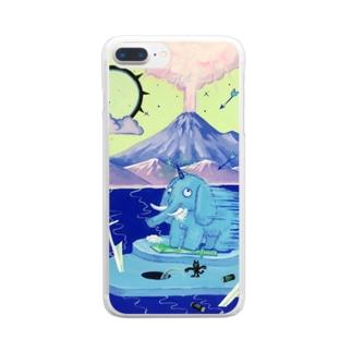 目眩を起こすマンモス♪ Clear smartphone cases